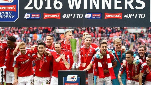 Barnsley won the Johnstone's Paint Trophy in 2016