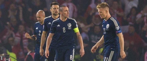 Scotland players looking dejected