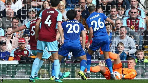 Burnley goalkeeper Nick Pope impressed in front of watching England boss Gareth Southgate. Not only was he a commanding presence in his penalty area, Pope made fine saves to deny Riyad Mahrez and Jamie Vardy