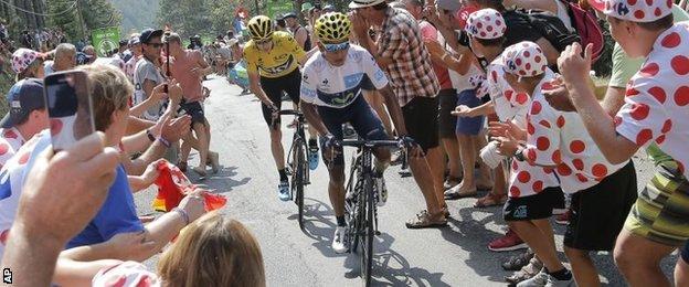 Spectators at the Tour de France