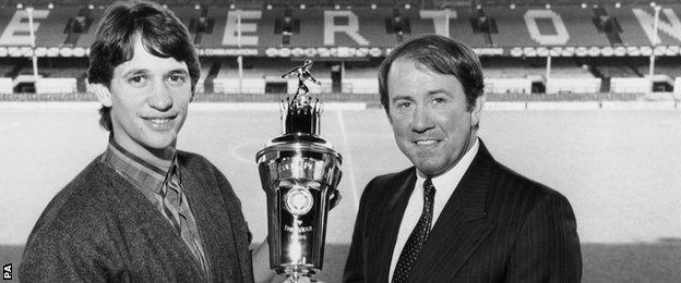 Howard Kendall and Gary Lineker
