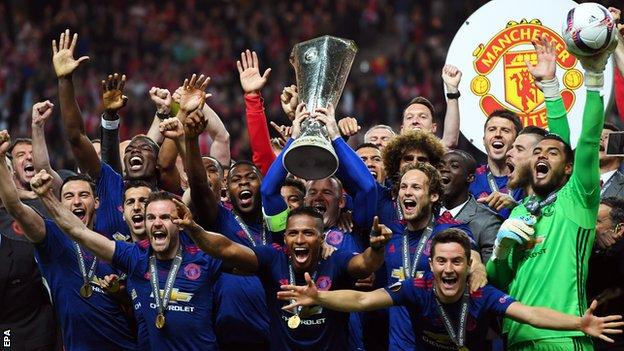 Manchester United beat Ajax in the Europa League final to secure a place in next season's Champions League
