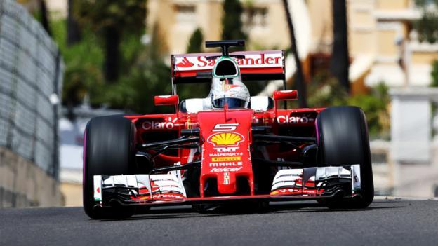 Monaco GP: Sebastian Vettel top in final practice - BBC Sport