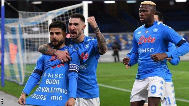 Napoli 1 0 Juventus Lorenzo Insigne Penalty Downs Champions Bbc Sport