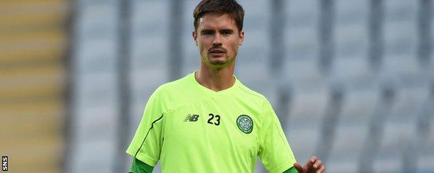 Celtic right-back Mikael Lustig
