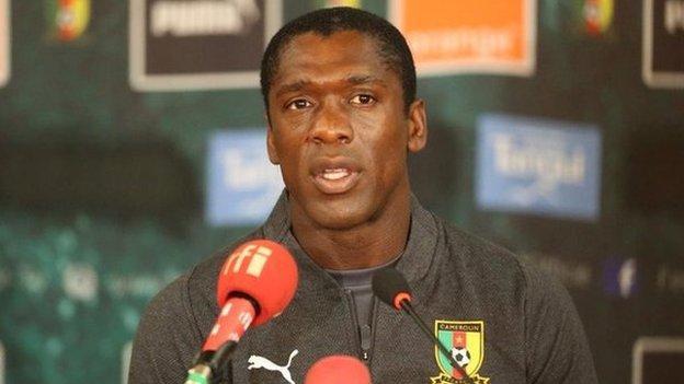 Cameroon's Dutch coach Clarence Seedorf