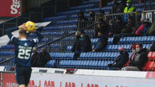 Ross County, based in Dingwall, are the only Premiership side allowed to admit any fans at the moment