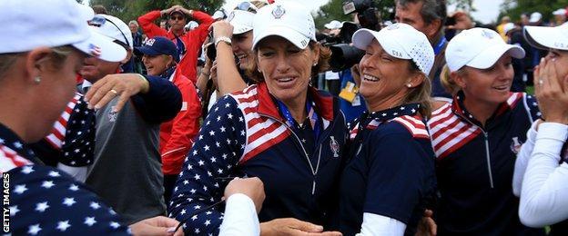 US team celebrate
