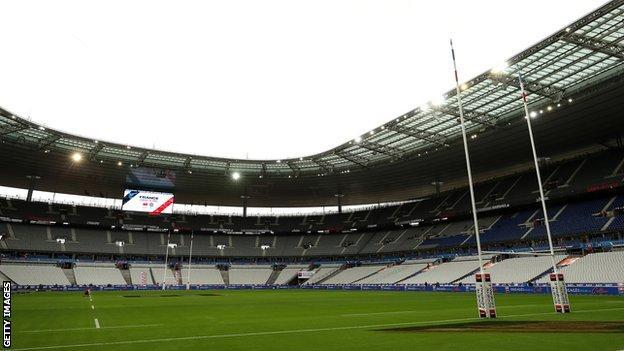 Inside an empty Stade de France