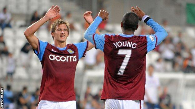 Marc Albrighton with Ashley Young
