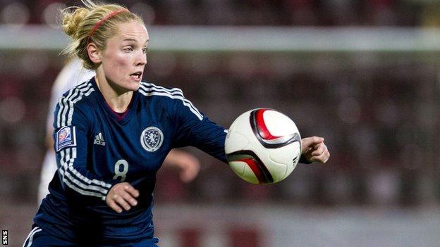 Seattle Reign midfielder Kim Little in action for Scotland