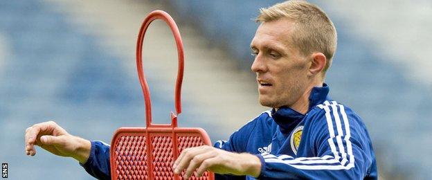 Scotland's Darren Fletcher during training