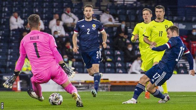 Ryan Fraser's early goal gave Scotland the lead at Hampden