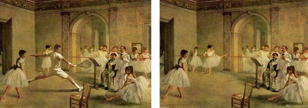 Edgar Degas' Rehearsal of the Scene.