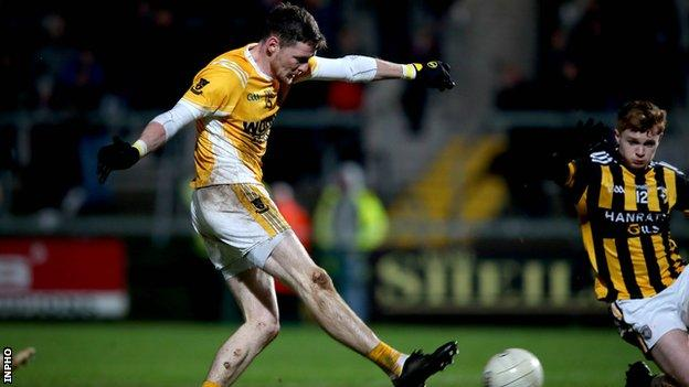 Conor McManus hit six points in Clontibret's 0-10 to 0-9 win over Crossmaglen on Saturday