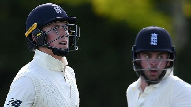 England in New Zealand: Dom Sibley and Zak Crawley hit centuries in tour match