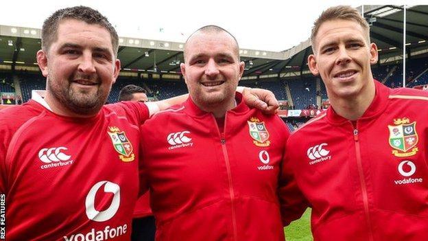 Wyn Jones, Ken Owens and Liam Williams