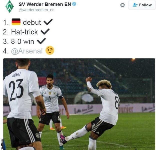 Werder Bremen on Twitter