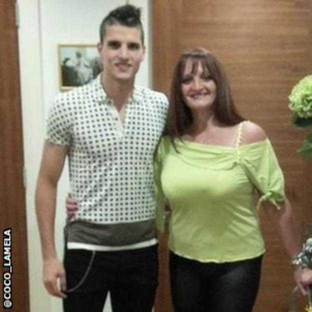 It was Mother's Day in Argentina on Sunday, and Tottenham forward Eric Lamela tweeted his best wishes to his mother