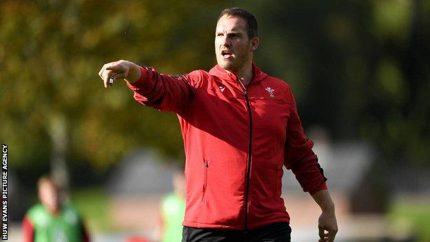 Gethin Jenkins worked with Wales Under-20s in the 2020 Six Nations