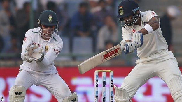India captain Virat Kohli hits out against South Africa