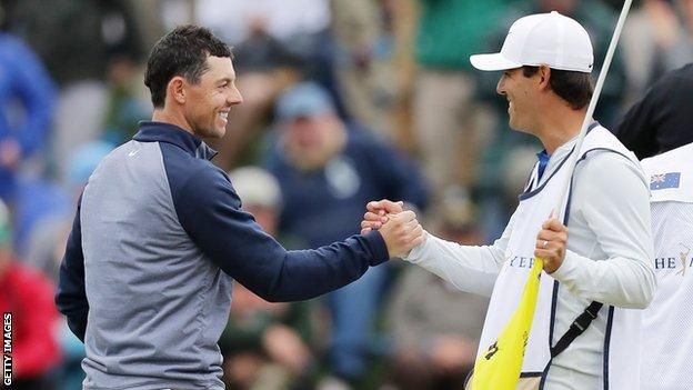 Rory McIlroy and Harry Diamond