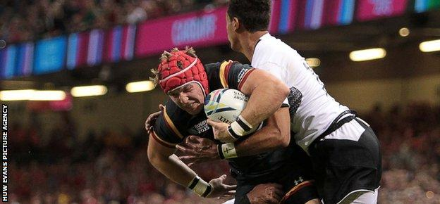 Wales centre Tyler Morgan will be winning just his third cap when he faces South Africa