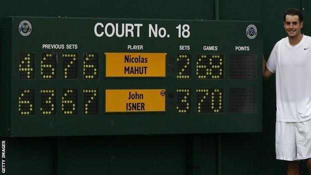 John Isner beat Nicolas Mahut in Wimbledon's longest match