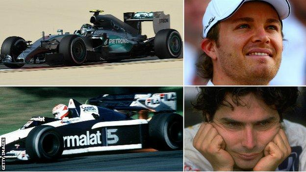 Rosberg and Piquet