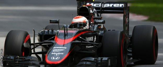 Jenson Button in action in Canada