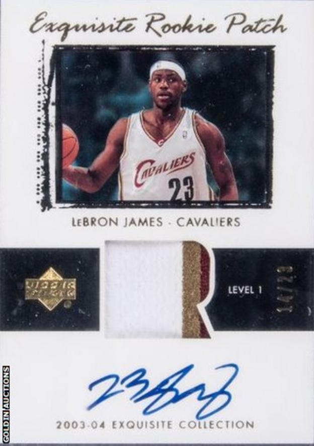 LeBron James card