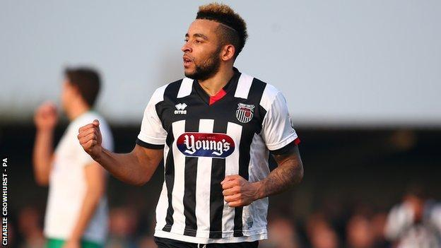 Nathan Arnold got the only of the game for Grimsby Town at Bognor