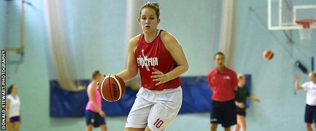 Caledonia Pride player Sarah Thomson