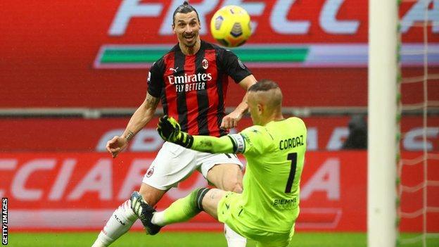 Zlatan Ibrahimovic scores against Crotone