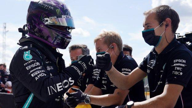 , Lewis Hamilton on pole position for British Grand Prix