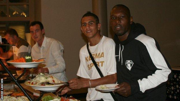 Riyad Mahrez during his time at Quimper