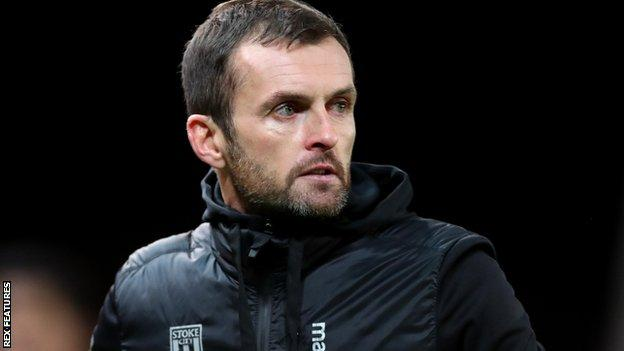 Nathan Jones on the sidelines