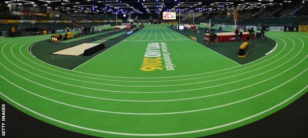 The indoor circuit at Portland