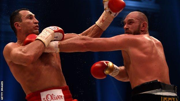 Tyson Fury and Wladimr Klitschko