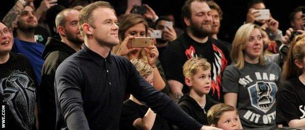Rooney at the wrestling