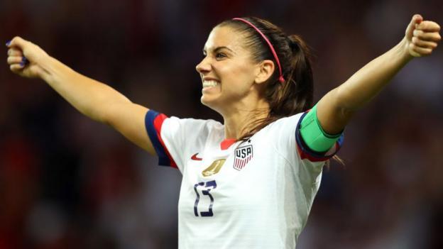 Alex Morgan: Pregnant USA striker wants to play at Olympics thumbnail