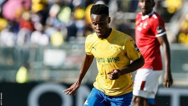 Mamelodi Sundowns and South Africa's Themba Zwane in action
