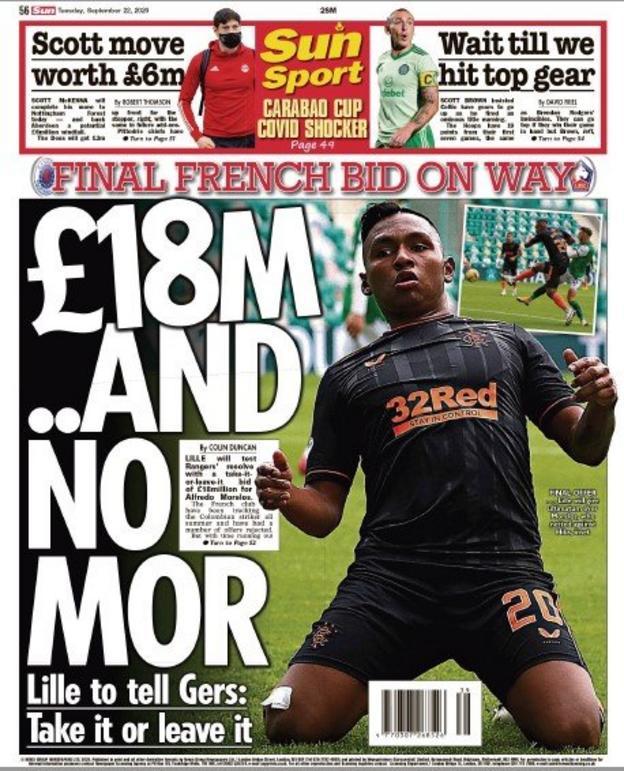 sports Scottish Sun back page