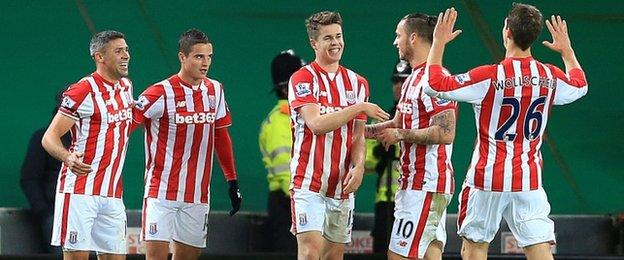 Stoke City players