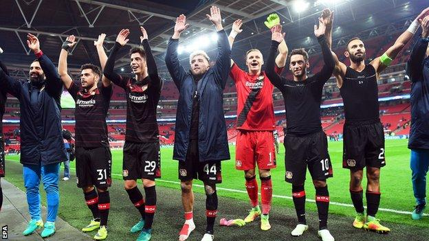 Bayer Leverkusen celebrated with their fans and had just one win in five matches before kick-off
