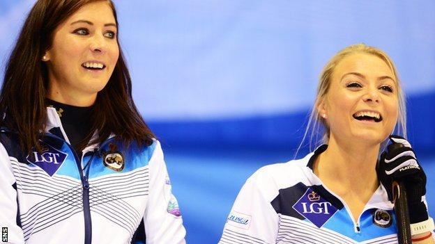 Eve Muirhead and Anna Sloan