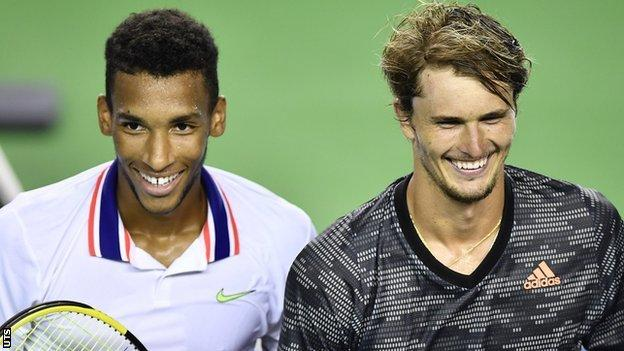 sports Felix Auger-Aliassime and Alexander Zverev