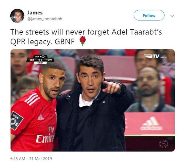Adel Taarabt tweet