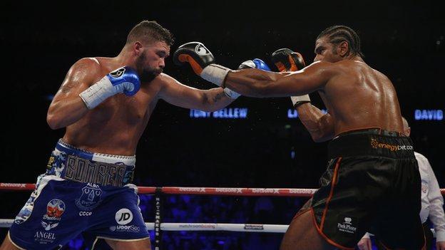 Tony Bellew beat David Haye in 2017