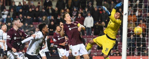 Hearts equalised, but 'didn't play anywhere near well enough' according to manager Craig Levein
